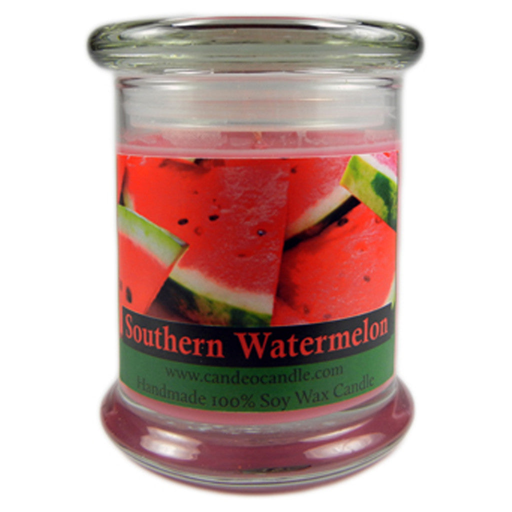 Southern Watermelon, 9oz Soy Candle Jar - Candeo Candle