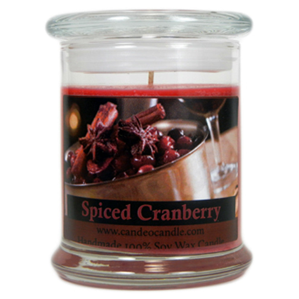 Spiced Cranberry, 9oz Soy Candle Jar - Candeo Candle