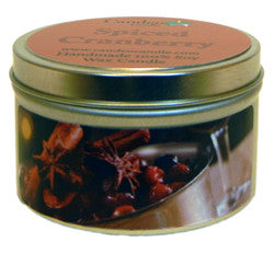 Spiced Cranberry, 6oz Soy Candle Tin - Candeo Candle