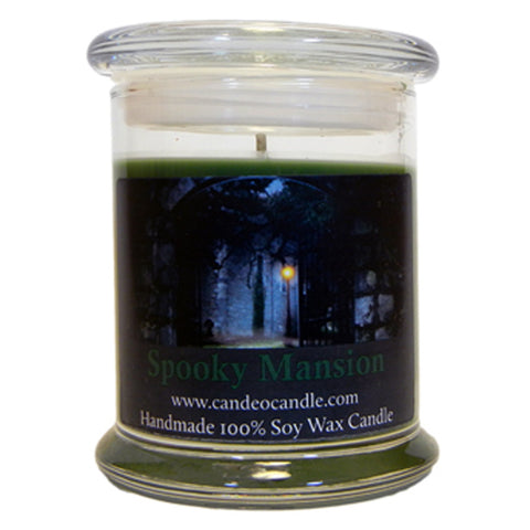 Spooky Mansion, 9oz Soy Candle Jar - Candeo Candle