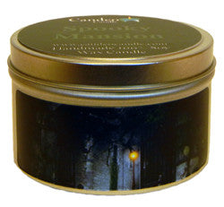 Spooky Mansion, 6oz Soy Candle Tin - Candeo Candle