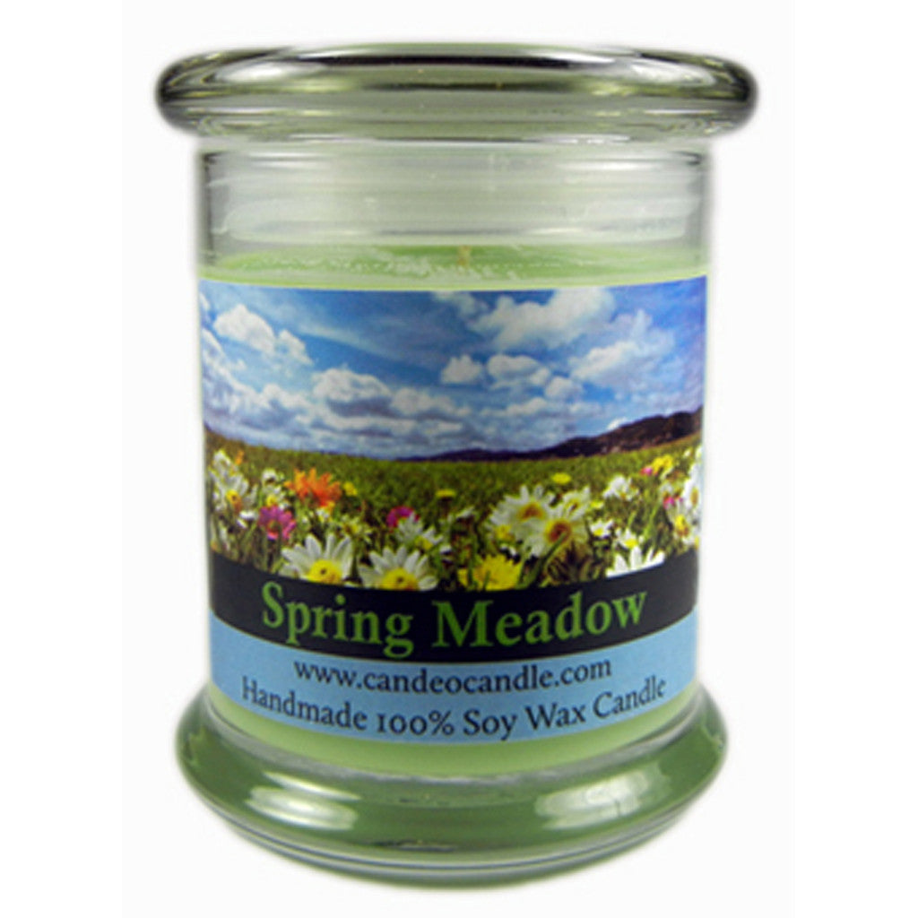 Spring Meadow, 9oz Soy Candle Jar - Candeo Candle