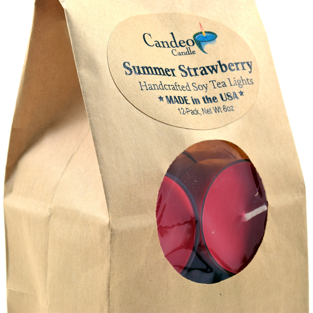 Summer Strawberry, Soy Tea Light 12-Pack