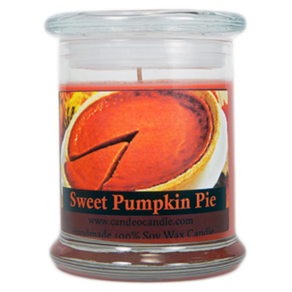 Sweet Pumpkin Pie, 9oz Soy Candle Jar - Candeo Candle