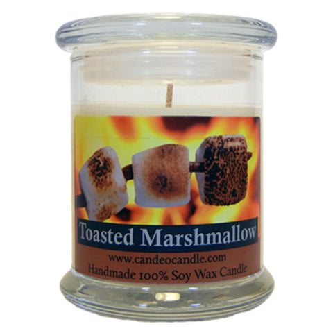 Toasted Marshmallow, 9oz Soy Candle Jar - Candeo Candle