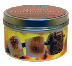 Toasted Marshmallow, 6oz Soy Candle Tin - Candeo Candle