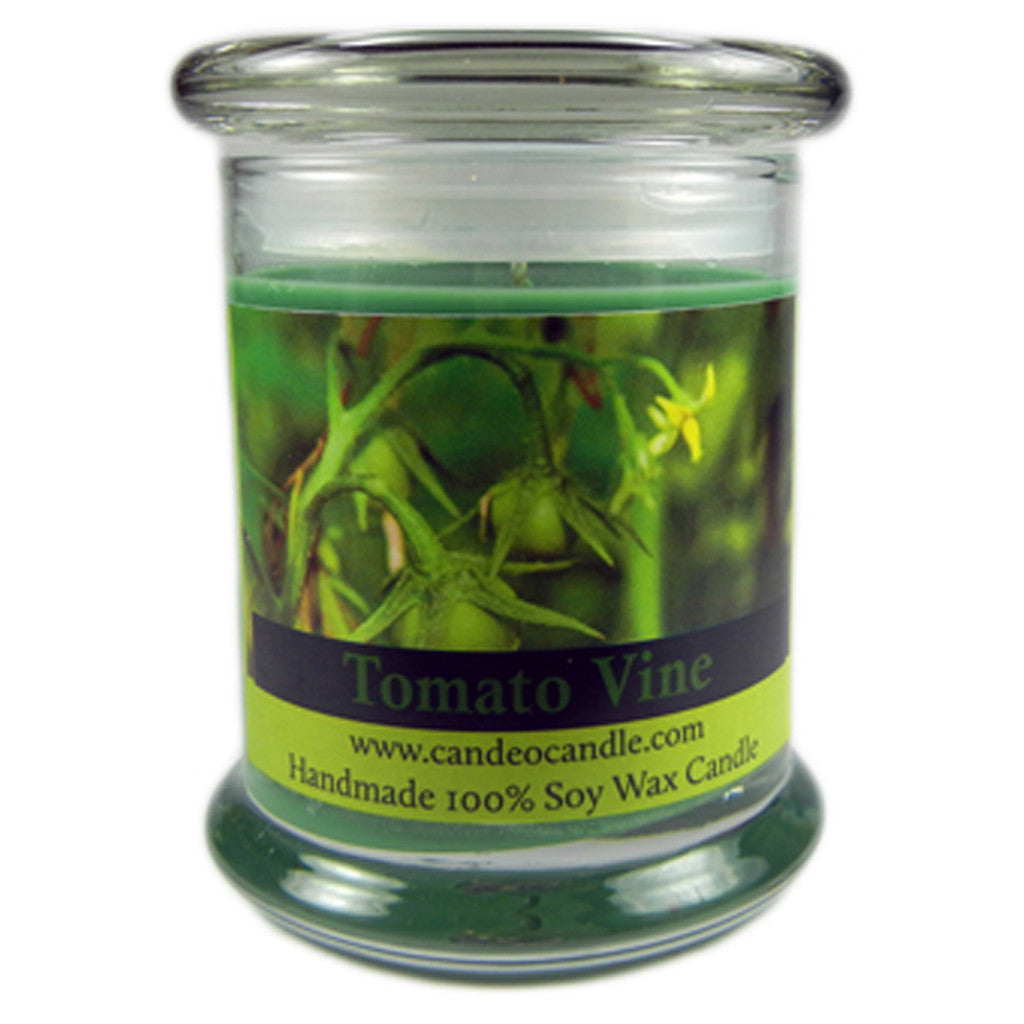 Tomato Vine, 9oz Soy Candle Jar - Candeo Candle
