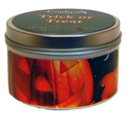 Trick or Treat, 6oz Soy Candle Tin - Candeo Candle