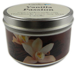Vanilla Passion, 6oz Soy Candle Tin - Candeo Candle