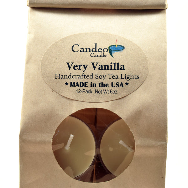 Very Vanilla, Soy Tea Light 12-Pack