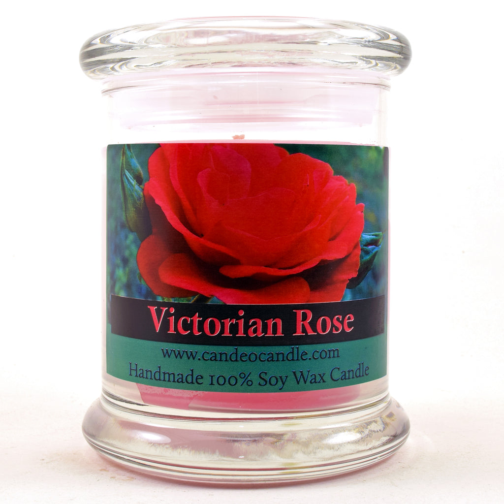 Victorian Rose, 9oz Soy Candle Jar