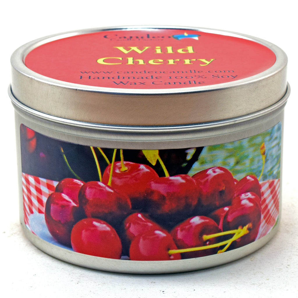 Wild Cherry, 6oz Soy Candle Tin