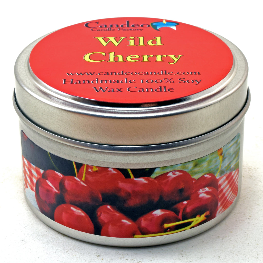 Wild Cherry, 4oz Soy Candle Tin