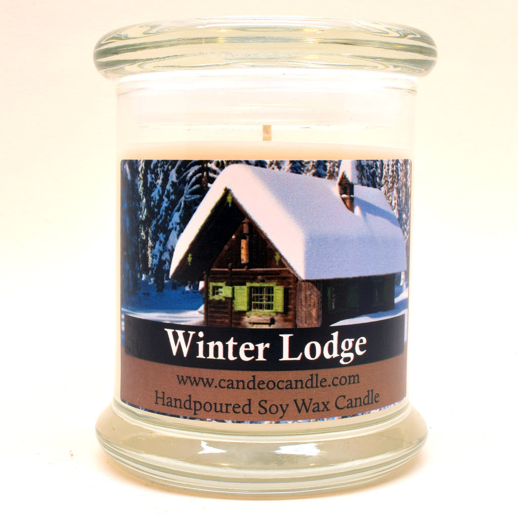 Winter Lodge, 9oz Soy Candle Jar