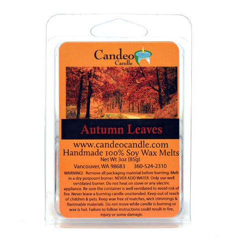 Autumn Leaves, Soy Melt Cubes - Candeo Candle