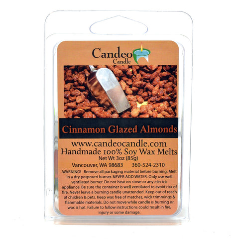 Cinnamon Glazed Almonds, Soy Melt Cubes - Candeo Candle