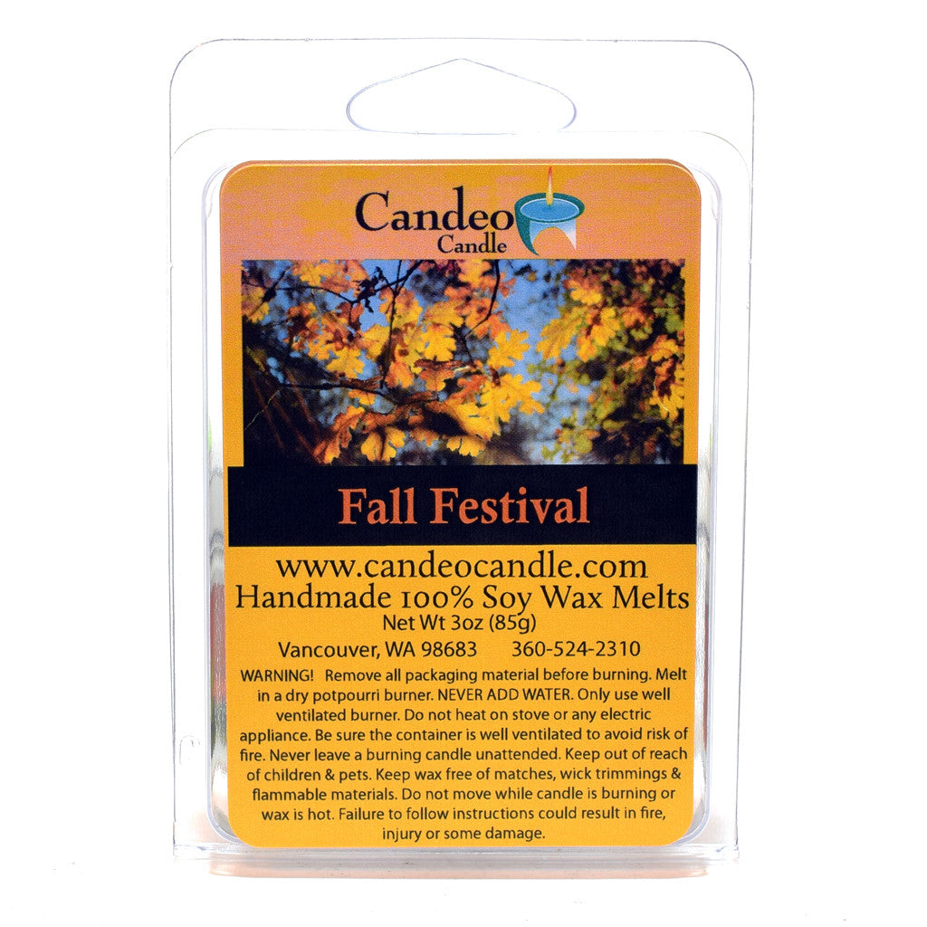 Fall Festival, Soy Melt Cubes - Candeo Candle