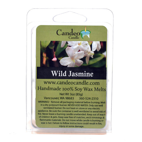 Wild Jasmine, Soy Melt Cubes - Candeo Candle