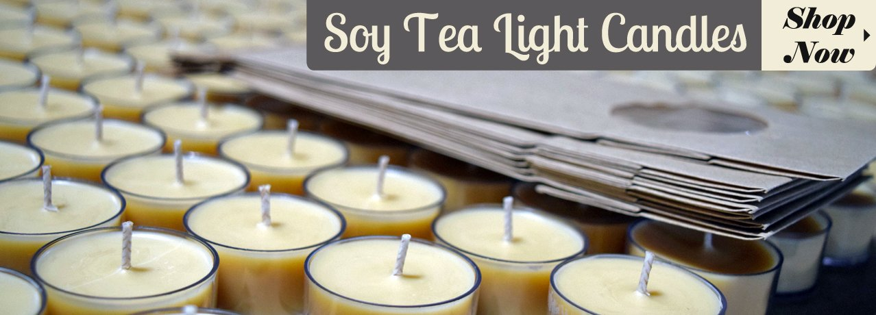 soy tea light candles