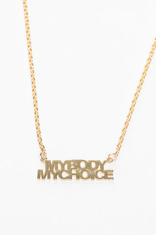 My Body My Choice Necklace
