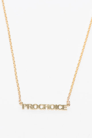 Prochoice Necklace