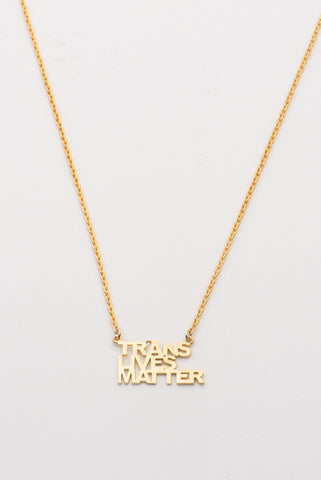 Trans Lives Matter Necklace