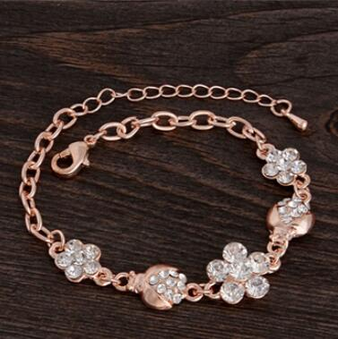 Trendy Summer New Fashion Hot Round Crystal Jewelry charm bracelet & Bangles anklet for women Gold bracelets for women