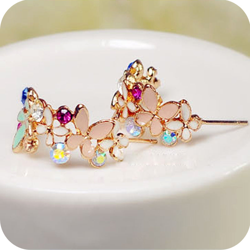Fashion Delicate Irises Earrings For Women R3516