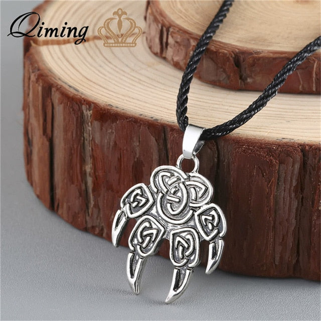 Viking Valknut Pendant Men's Necklace Women Round Pagan Religious Male Man Slavic Silver Steampunk Jewelry Tibetan Amulet Gift