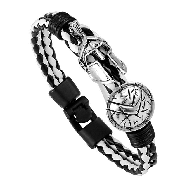 Fashion Spartan Helmet Bracelet Women High Quality Retro Men's Bracelet Brave Knight Bracelet Ladies Christmas Gift Preferred