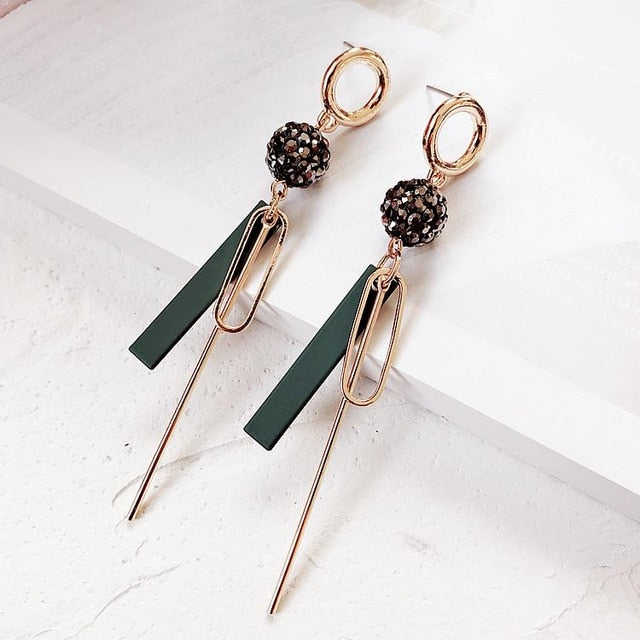 Hot Sale Earrings Geometric Circular Irregular Long Tassel Earrings Dangle Earrings For Women Drops Earrings Fashion Jewelry