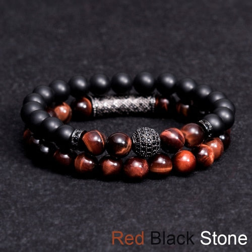 New Men Woman Creen Green tiger eyes Bead Bracelet 10MM Micro Pave CZ Beaded Black Buddha Bracelet Pulseira Masculina