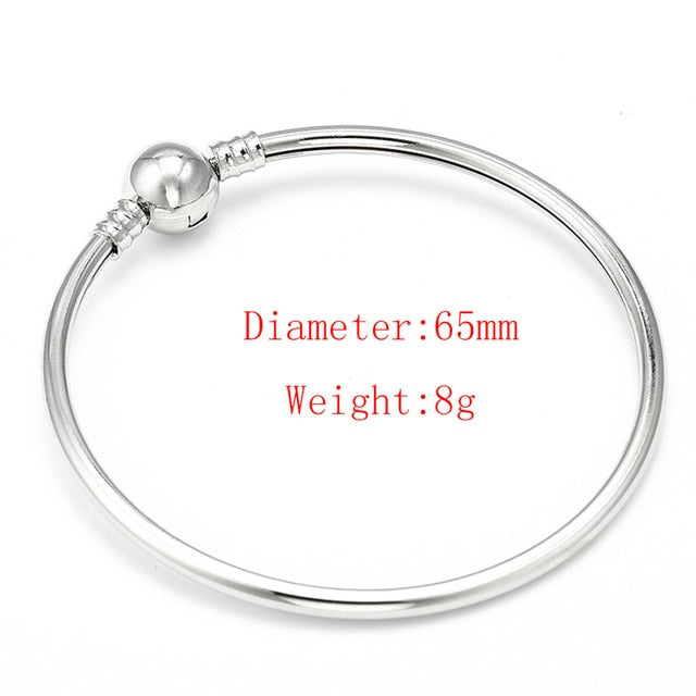 High Quality 17-21cm Silver Snake Chain Link Bracelet Fit European Charm Pandora Bracelet for Women DIY Jewelry Making