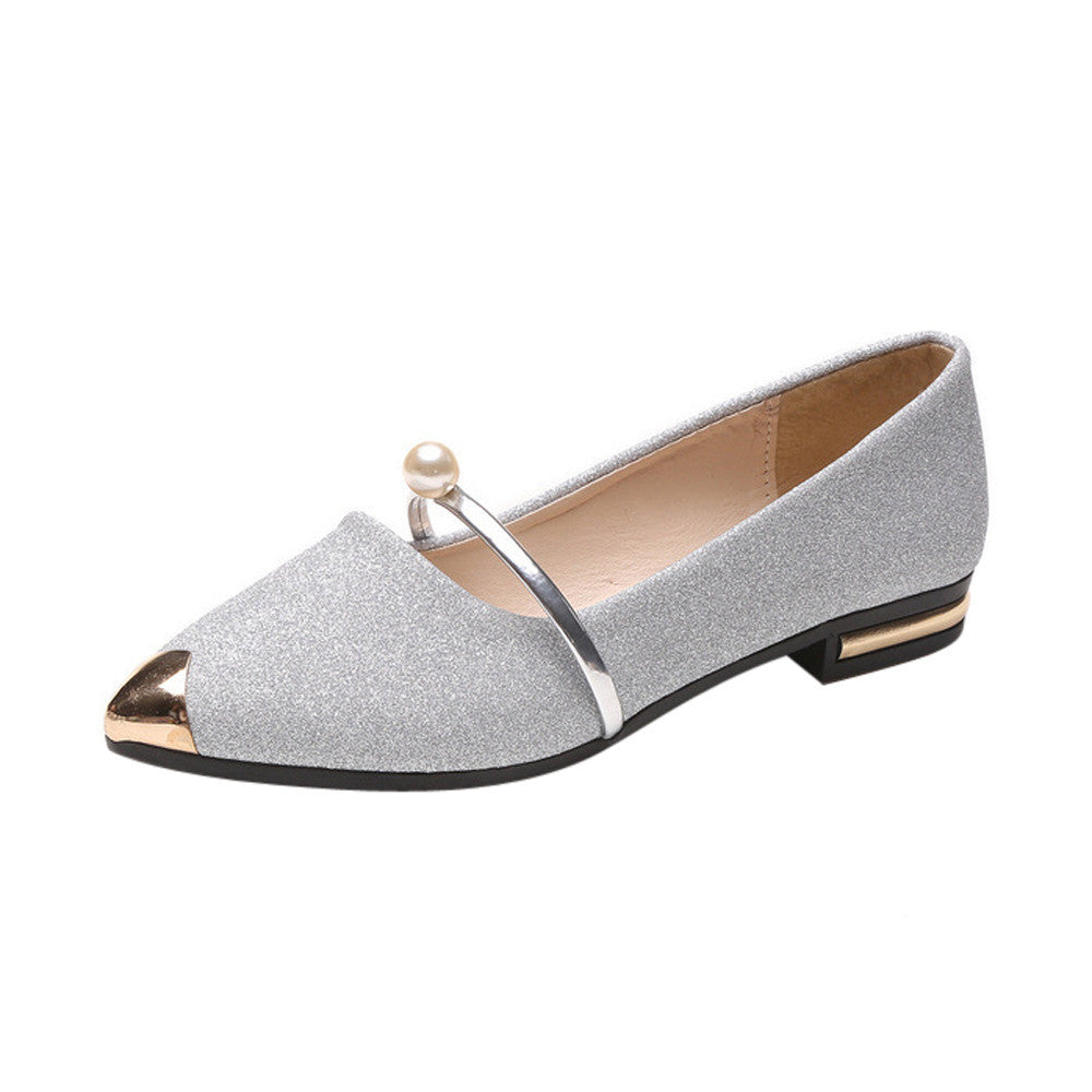 SAGACE Women Flat Shoes Fashion Square Heel Pointed Toe Ladise Shoes Casual Low Heel Flat Shoes Spring Outdoor Casual Flats