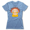 The-Way-Is-In-The-Heart-Bitty-Buda-Women-T-Shirt-Blue