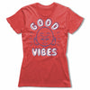 Good-Vibes-Bitty-Buda-Women-T-Shirt-Red