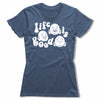 Life-Is-Good-Bitty-Buda-Women-T-Shirt-Blue