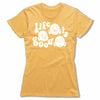 Life-Is-Good-Bitty-Buda-Women-T-Shirt-Yellow