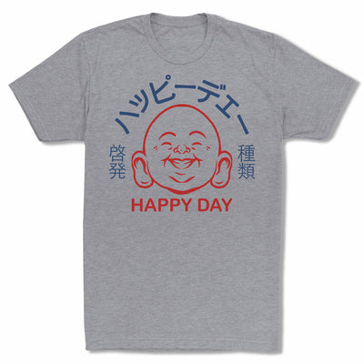 Bitty-Buda-Happy-Day-Men-T-Shirt-Grey