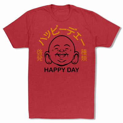 Bitty-Buda-Happy-Day-Men-T-Shirt-Red