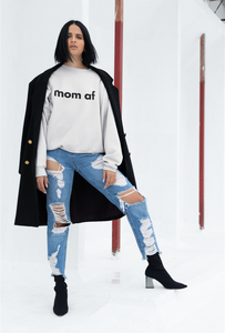 Mom AF Sweatshirt Black (4504924225585)