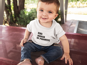 Baby Kind Humans in Progress White Tee (4330950033457)