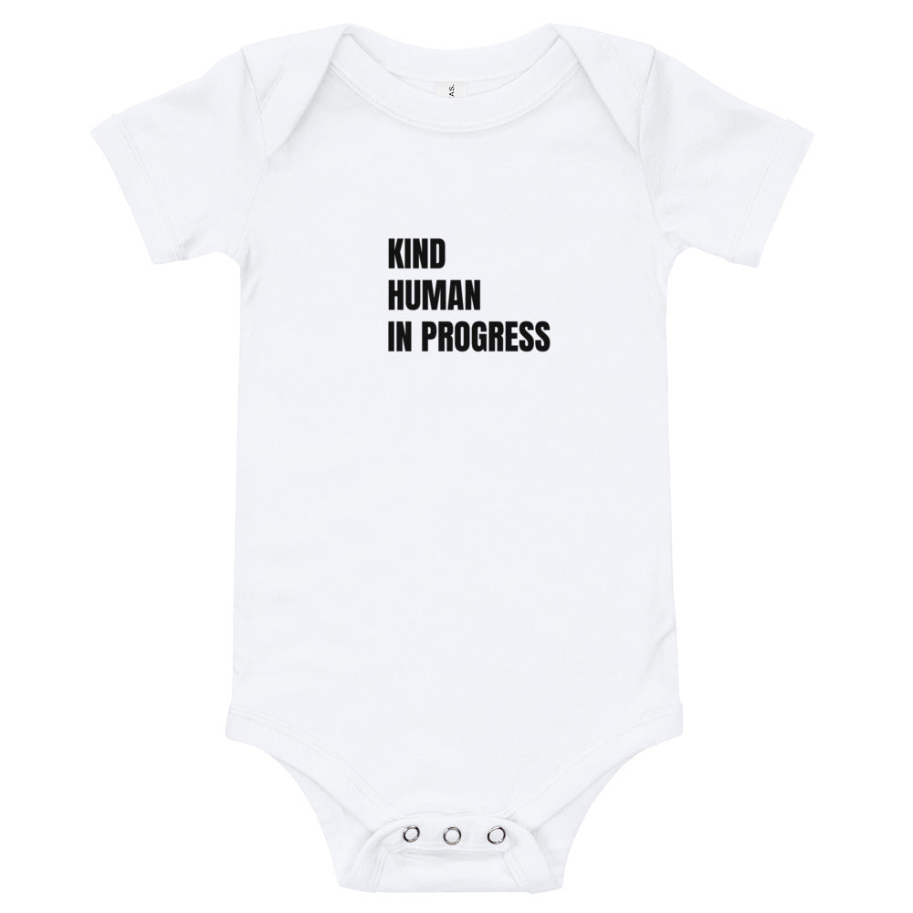 Kind Human in Progress White Onesie (4330945445937)