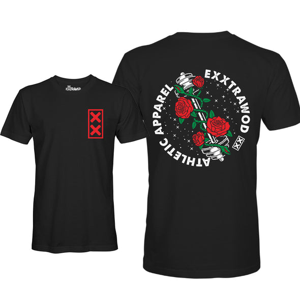Barbell Rose Unisex T-shirt