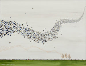 Murmuration - Oil on Canvas - 40 x 50 cm