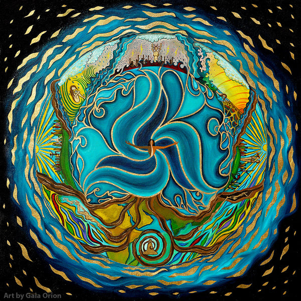 life journey goddess spiral ocean art sacred feminine moon cycles