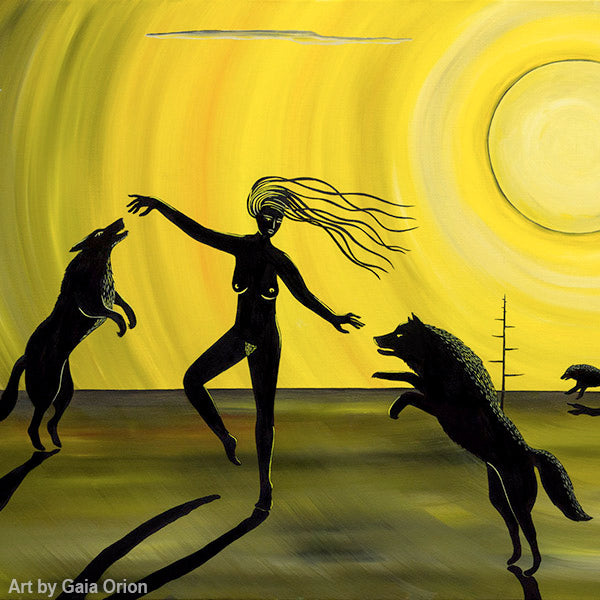 Dancing with the Wolves Eco Greeting Card