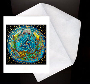 Breaking The Ocean Eco Greeting Card