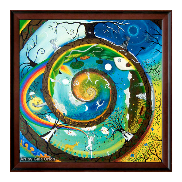 her journey life art spiral women sacred feminine original art oil on canvas