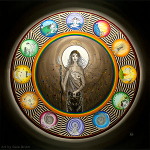 herstory wild woman mandala life journey full moon wolf